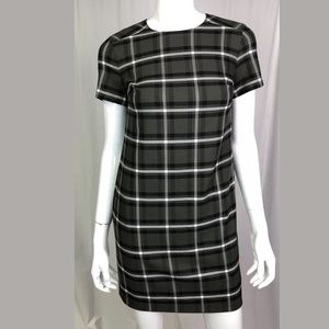 NWT Banana Republic Green Plaid Shift Dress PXXS